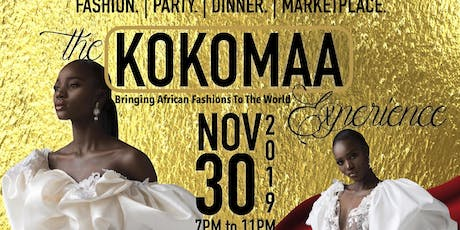 The KOKOMAA Experience. Fashion. Party. Dinner. Marketplace tickets