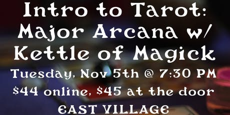 Introduction to the Tarot : the Major Arcana tickets