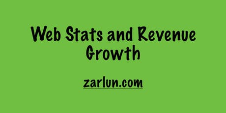 Web Stats and Revenue Growth New York EB tickets