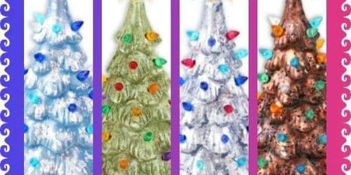 Ceramic Christmas Tree Painting