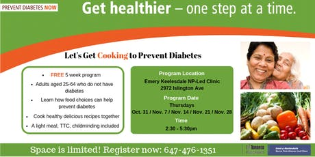 Let's Get Cooking to Prevent Diabetes! tickets