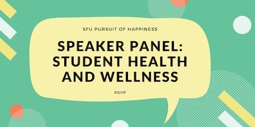 Speaker Panel: Student Health and Wellness