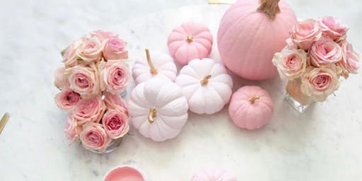 Pink Pumpkin Painting Party!