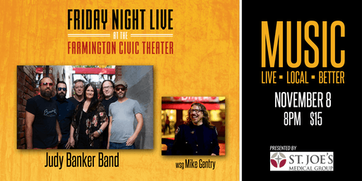 Friday Night Live - Judy Banker Band wsg Mike Gentry
