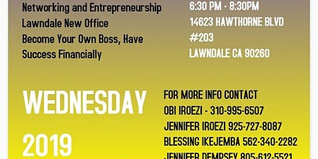 South Bay Entrepreneurship Mixer -  Business, Health, Relationship and Financial Wellness (Door prize giveaway)  tickets