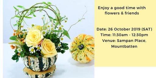 Autumn Pumpkin Floral Workshop