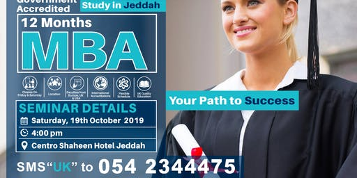 UK -MBA Seminar Jeddah 19th October 2019
