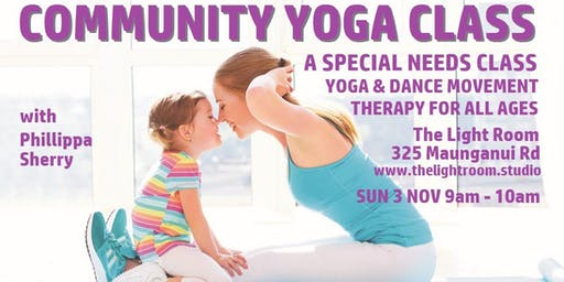 Community Yoga Class - Special Needs with Phillippa Sherry - Sun3Nov