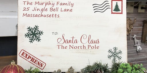 Paint and Stencil a Personalized Letter to Santa Sign at The Downtown