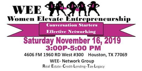 WEE-Women Elevate Entrepreneurship Network Group  tickets