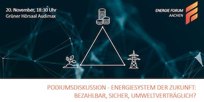 Podiumsdiskussion - Energiesystem der Zukunft