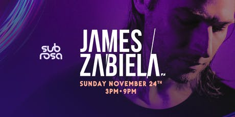 James Zabiela - Brisbane Show @ Sub Rosa tickets