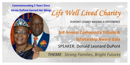 3rd Annual Community Tribute & Scholarship Award Gala