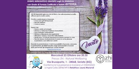 Bergamo Corso Gratuito sugli Oli Essenziali biglietti