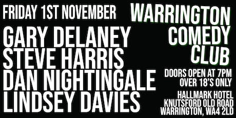 Warrington Comedy Club at the Hallmark Hotel tickets