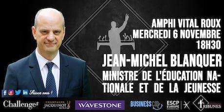Tribunes reçoit Jean-Michel Blanquer billets