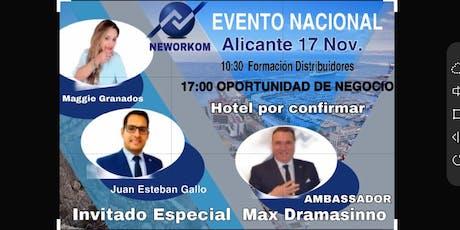 EVENTO NACIONAL  DE NEWORKOM entradas