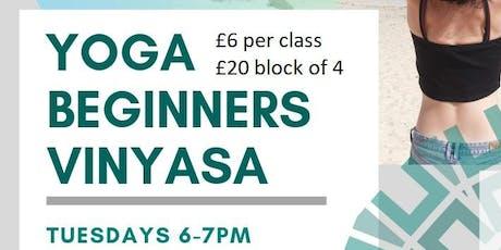 Vinyasa Yoga: Beginners sessions tickets