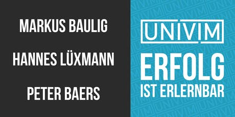 UNIVIM Bochum - Erfolg ist erlernbar Tickets
