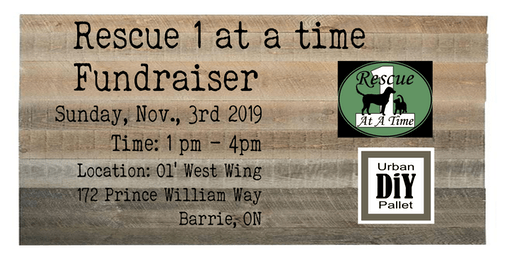 Rescue 1at a time -  Pillows and Door Mat Fundraiser
