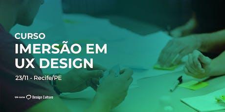 Curso Imersão em UX Design em Recife ingressos