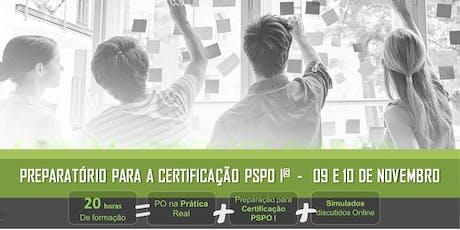 Scrum Product Owner na Prática + Preparatório Certificação PSPO I | São Paulo ingressos