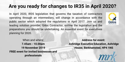Are you ready for changes to IR35 in April 2020