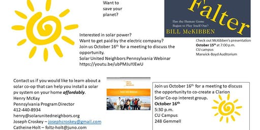 Residential Solar Co-Op Interest Meeting