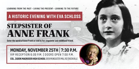 A Historic Evening with Eva Schloss, Stepsister of Anne Frank tickets