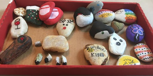 ROCK PAINTING and WINE!