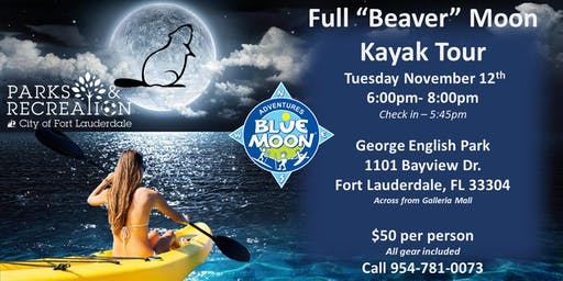 "Full ""Beaver"" Moon Kayak Tour"