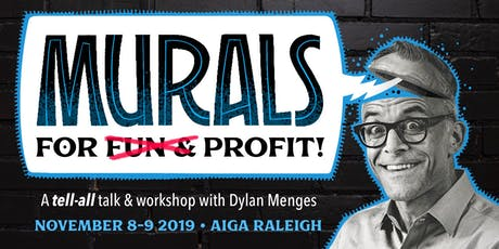 AIGA Raleigh: Dylan Menges, Murals for Fun and Profit. Workshop Event tickets
