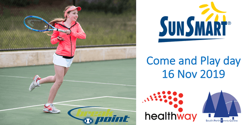 Free Tennis at SPTC - SunSmart Come and Play!