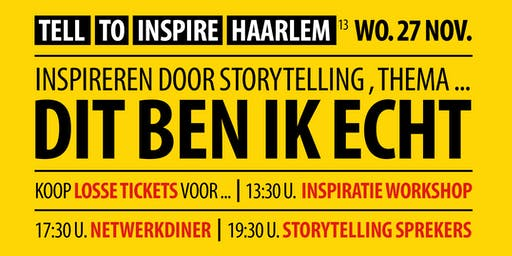 Inspireren door storytelling | Thema: Dit ben ik echt | 27 nov.