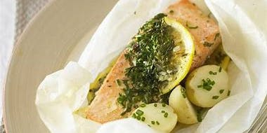 Duluth Fish Market: Oven Steamed Salmon with Health Care Advisor