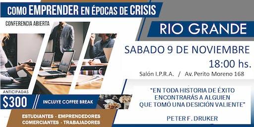 """Conferencia abierta """"Como emprender en epocas de crisis"""""""