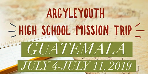 Argyle UMC High School Mission Trip 2020