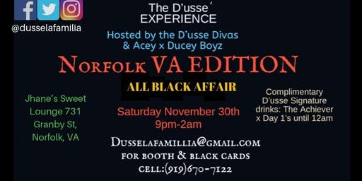 The D'ussé Experience All Black Affair