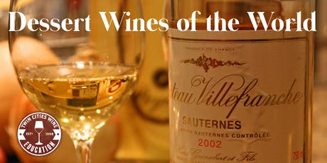 Dessert Wines of the World, a comprehensive overview tickets