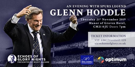 An Evening with Spurs & England Legend Glenn Hoddle