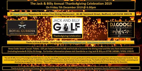 The Jack & Billy Annual Thanks4giving Celebration 2019 tickets