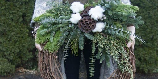 Create your Chalet Chic Wreath at Dry City Brew Works with Alice's Table