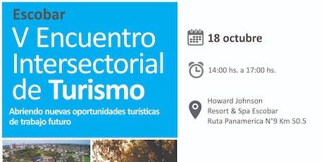 V ENCUENTRO INTERSECTORIAL DE TURISMO P.B.A. entradas