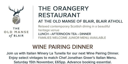 Italian Wine dinner with La Tunella at The Old Manse of Blair