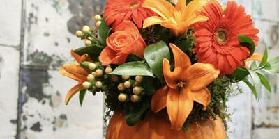 Pumpkin Centerpieces (with Wine and Apps) at Su Casa with Alice's Table