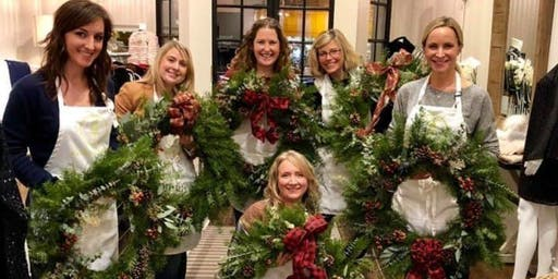 An Inspired Holiday Wreath Making Workshop with Alice's Table