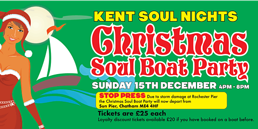 Kent Soul Nights Christmas Soul Boat Party