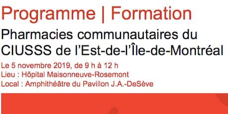 Programme   Formation - Pharmacies communautaires du CIUSSS-EMTL tickets