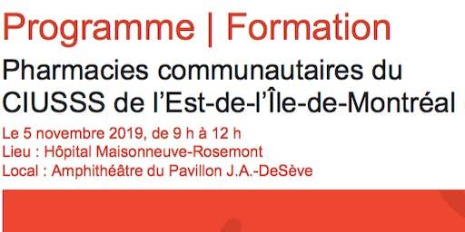 Programme | Formation - Pharmacies communautaires du CIUSSS-EMTL
