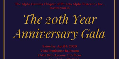 The 20th Year Anniversary Gala tickets